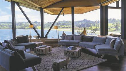 Lounge-Bereich Hotel Tierra Chiloe