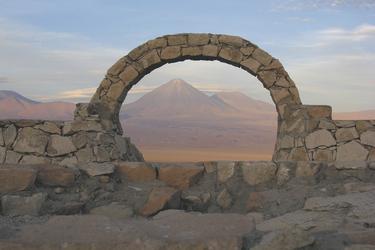 Blick auf den Vulkan Licancabur