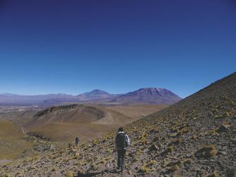 Wanderung in der Atacama-Wüste