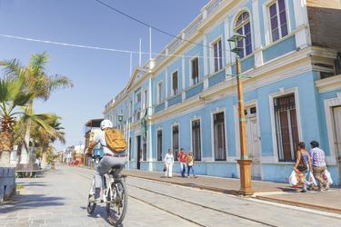 in der Altstadt von Iquique