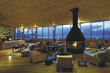 Lounge-Bereich Hotel Tierra Patagonia