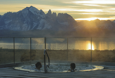Whirlpool mit Blick im Tierra Patagonia
