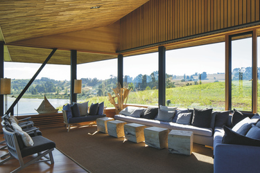 Lounge-Bereich mit Aussicht