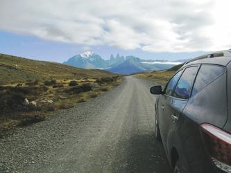 Fahrt in Richtung Nationalpark Torres del Paine