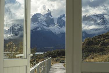 Ausblick auf die patagonische Landschaft
