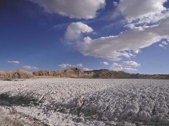 Salzkruste im Valle de Luna