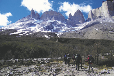 Wanderung im Torres del Paine Nationalpark ©Moser active Chile