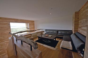 Wohnbereich einer Suite im Tierra Patagonia