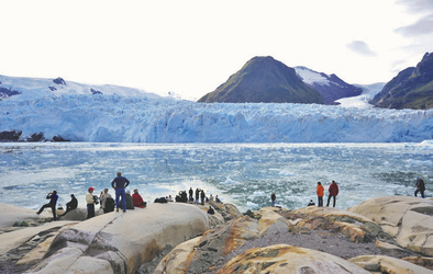 Landgang am Amalia Gletscher