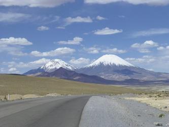 Vulkan Parinacota im Lauca Nationalpark