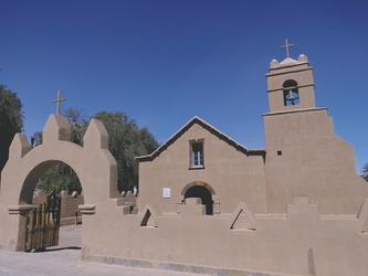 Adobe-Kirche in San Pedro de Atacama
