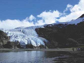 mit Australis am Aguila Gletscher
