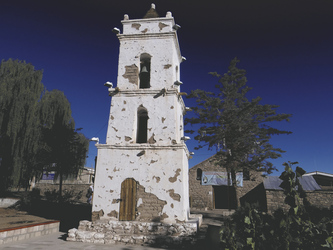 Glockenturm in San Pedro de Atacama
