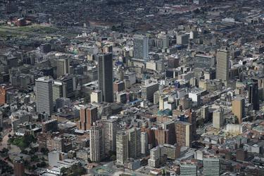 Blick auf Bogotá