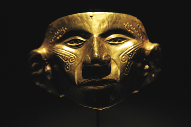 Maske im Goldmusuem