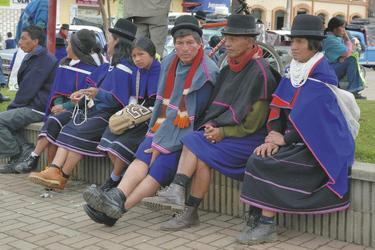 Indigene auf dem Markt in Popayan, ©Georg Rubin