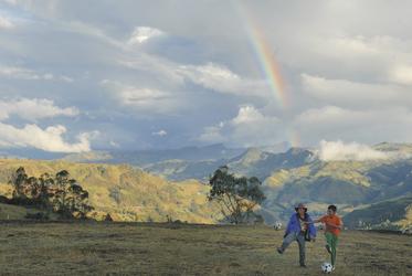 Regenbogen im Hochland bei Boyacá, ©Georg Rubin