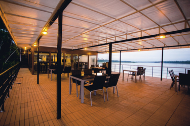 Aufenthaltbereich auf der MV Anakonda, ©®MarynaMarston2013. All rights reserved!