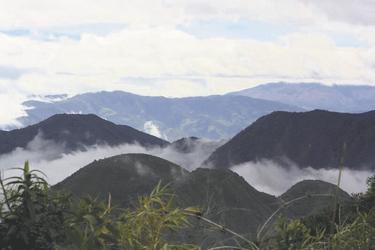 Nebelwald beim Pululahua Krater