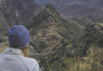 Blick auf die Ruinen von Pisac