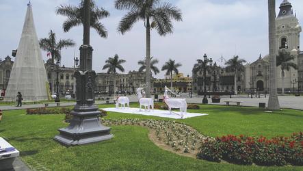 Hauptplatz von Lima mit Kathedrale