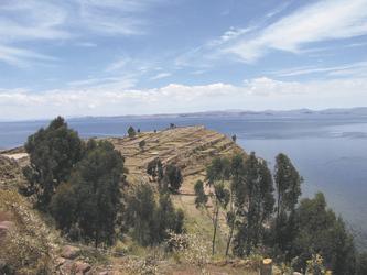 Blick von der Insel Taquile