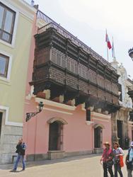 in der Altstadt von Lima