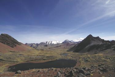Blick von der Huampococha Lodge