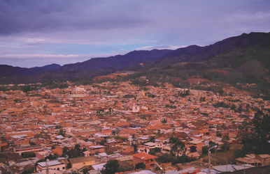 Blick auf Chachapoyas