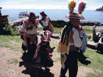 auf der Insel Taquile