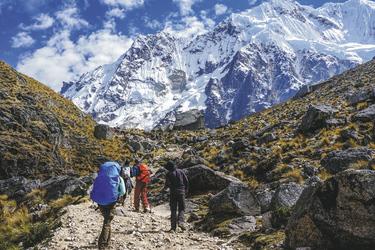 Blick auf den Berg Salkantay