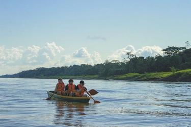 Paddel auf dem Amazonas