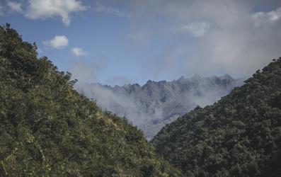 Landschaft auf dem Salkantay Trail