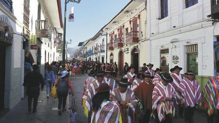 in der Altstadt von Cusco