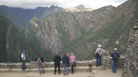 Blick von Machu Picchu auf die Berge