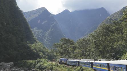 mit dem Zug durch das Urubamba-Tal