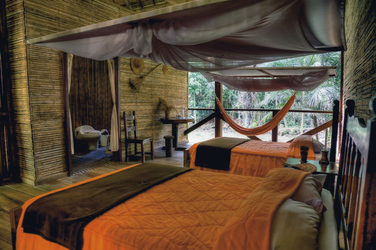 Komfort-Zimmer in der Posada Amazonas