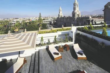 Dachterrasse im Casa Andina Select Arequipa