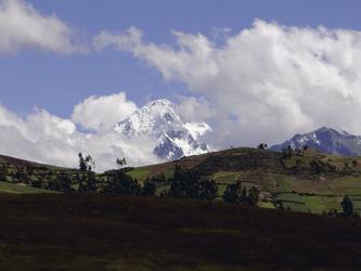 Blick von Moray auf die Anden