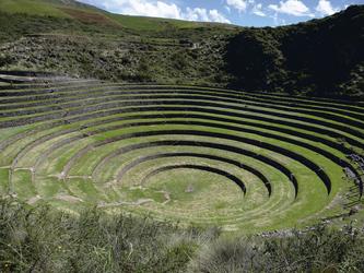 Kreisrunde Inkaterrassen von Moray