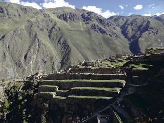 Inkafestung Ollantaytambo im Heiligen Tal