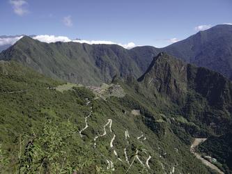 Blick vom Sonnentor auf Machu Picchu