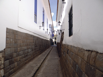 typische Gasse in Cusco