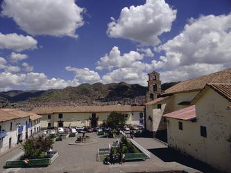 Platz im Künstlerviertel San Blas