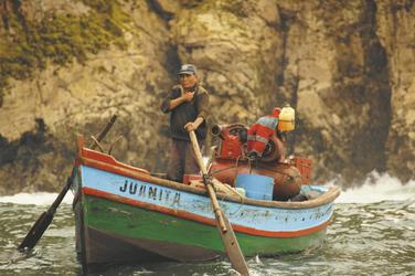 Fischer bei den Palomino Inseln