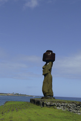 Moai mit Auge