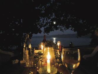 Abendessen bei Kerzenschein