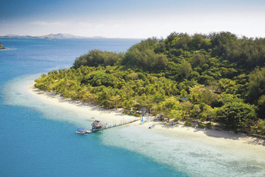 Blick auf Malolo Island