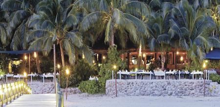 Abendessen im Strandrestaurant