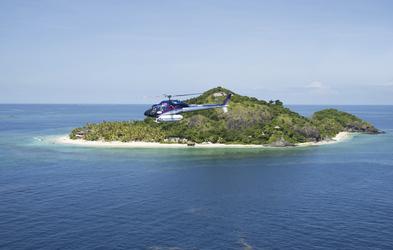 Helikopterflug von Matamanoa
